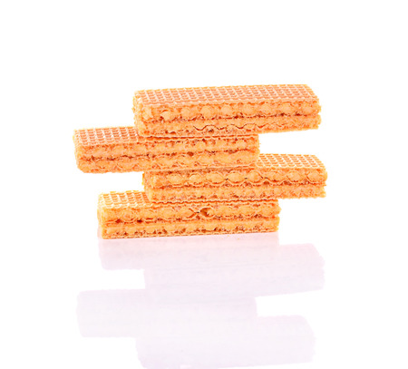 wafers: Wafers on a white background