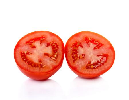 Tomato with  isolated on white background photo