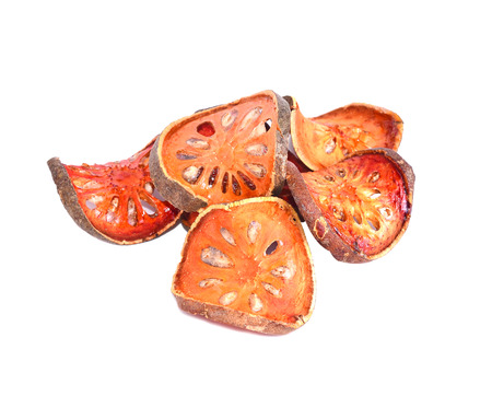 Quince drying with white background Stock Photo