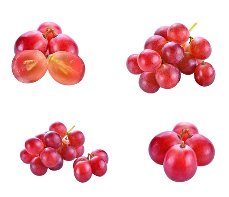 white grape: Red grape isolated on white background