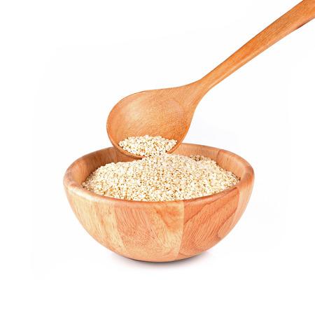 Sesame white seeds isolated on white background Stock Photo