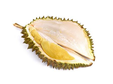 Durian king fruit  isolated on white background. Stock Photo