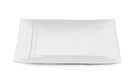 flatwares: Plate  white empty isolated with white on background Stock Photo