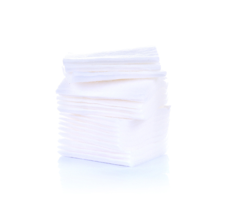 Cotton swabs sheets isolated on white background