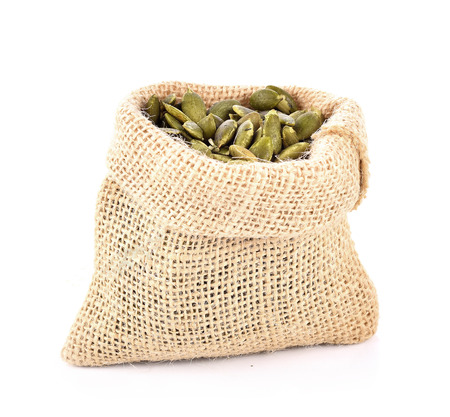 Pumpkin Seed isolated on white background Stock Photo