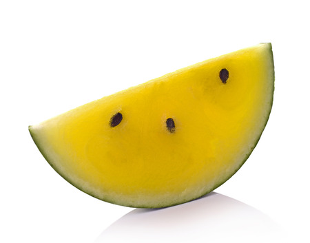 whithe: Yellow watermelon on whithe background