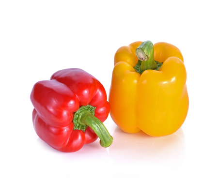 Bell peppers isolated on white background Stock Photo