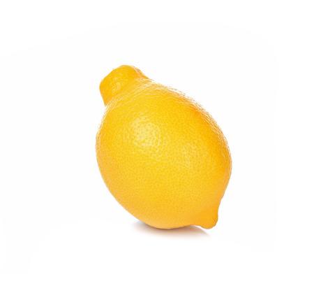 Lemon yellow isolated on white background