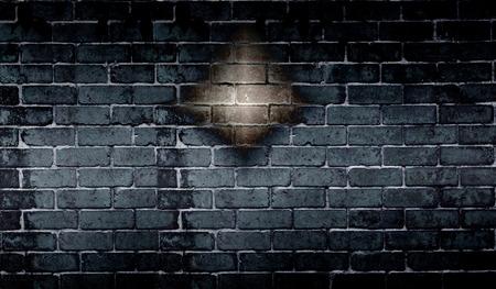 black wall: Abstract black brick wall background Stock Photo