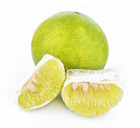 pomelo: Pomelo fruit on white background