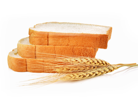wheat isolated: Bread, wheat isolated on white background Stock Photo