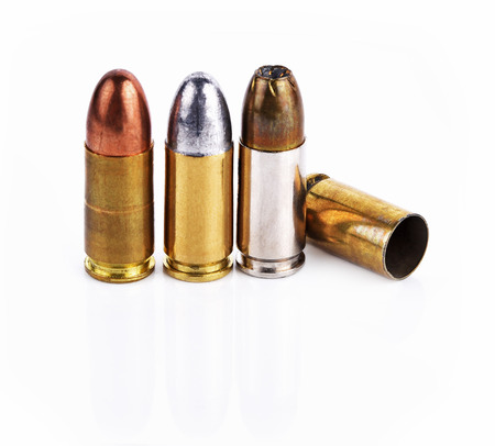 casings: Bullet, bullet casings isolated on white background