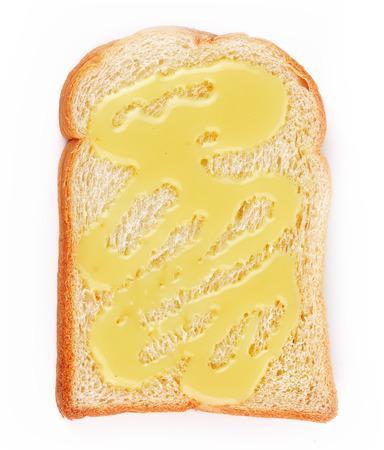sweetened: Bread sweetened milk isolated on white background Stock Photo