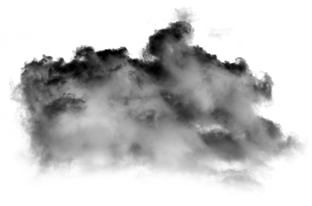 Clouds black or smoke isolated on white background