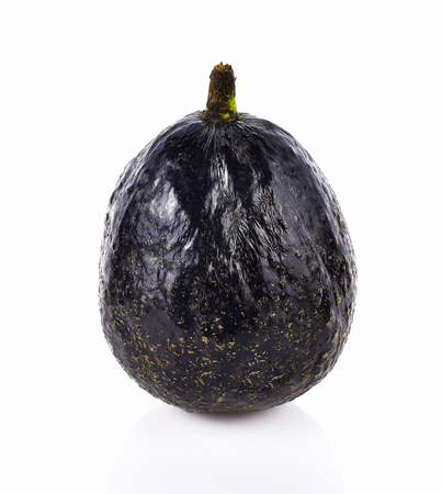 Brown avocado isolated on white background