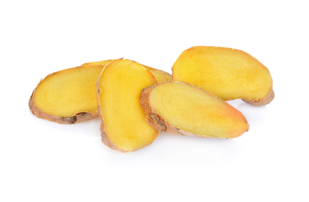 Ginger slice  isolated on white background
