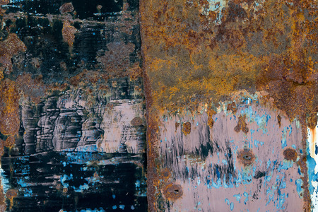 metal corrosion: Background black metal corrosion. Stock Photo