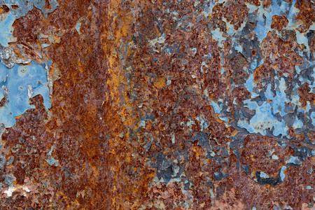 corroded: Corroded white metal background. Rusted white painted metal wall. Stock Photo