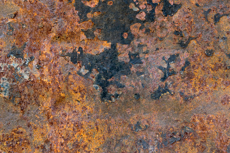 oxidized: old metal iron rust texture