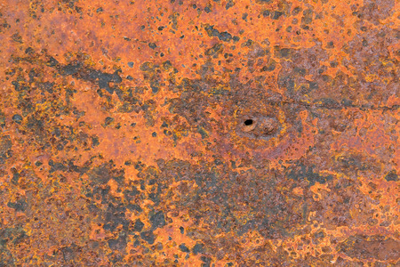 Corroded  metal background. Rusted white painted metal wall. Rusty metal background with streaks of rust. Stok Fotoğraf