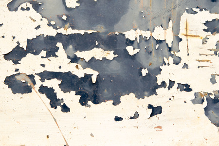 oxidize: Corroded  White metal background. Rusted white painted metal wall. Rusty metal background with streaks of rust.