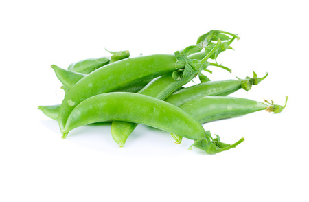 heap of snow: Snow peas isolated on white background
