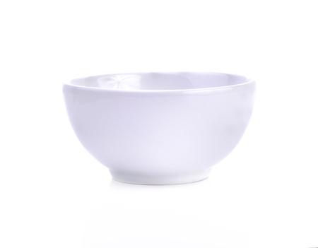 empty bowl: Empty white bowl isolated on white background