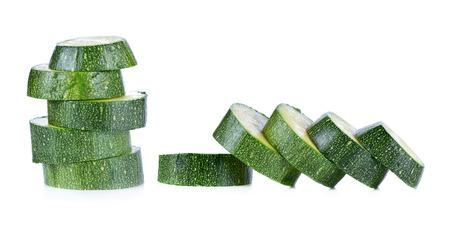 zucchini isolated on white background