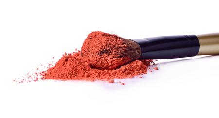 Professional make-up brush on crushed eyeshadow