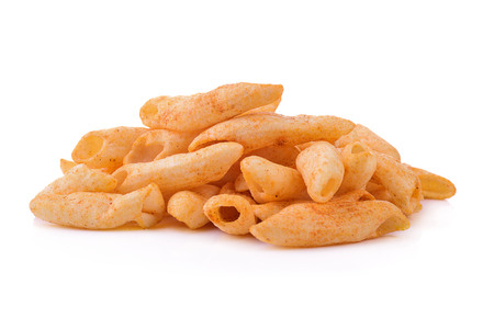 ridged: Snack isolated on white background