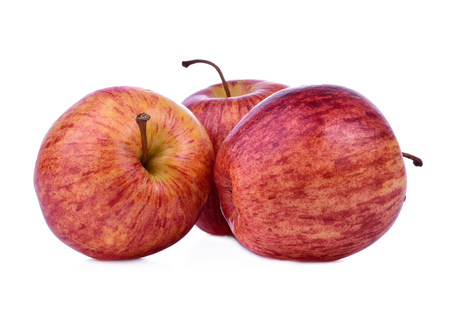Fresh red apple isolated on white background.