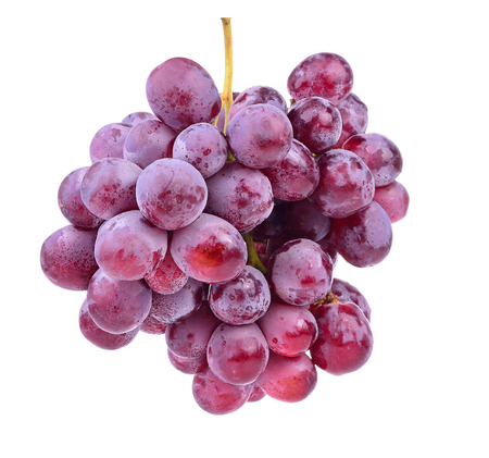 red grape sweet isolated on white background.