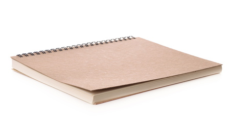 Blank book with cover isolated on white background