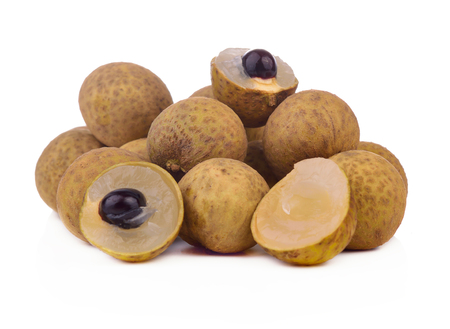 fresh longan isolated on white background.