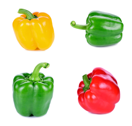 close up food: sweet pepper isolated on white background Stock Photo