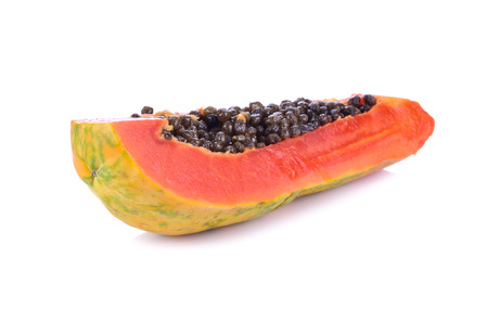 cutaneous: papaya in white background