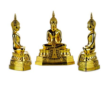 golden Buddha.Buddha on a white background.