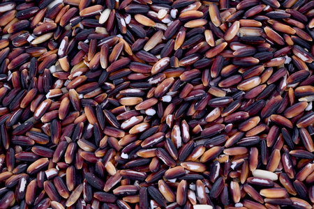 Black rice close up for texture