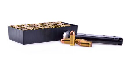 9mm practice bullet for a gun on a white background