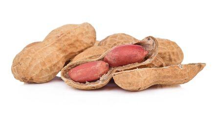 peanuts isolated on the white background Archivio Fotografico