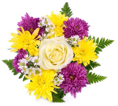 Bouquet of flowers isolated on white. Zdjęcie Seryjne
