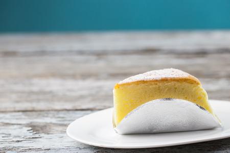 Butter cake sliced
