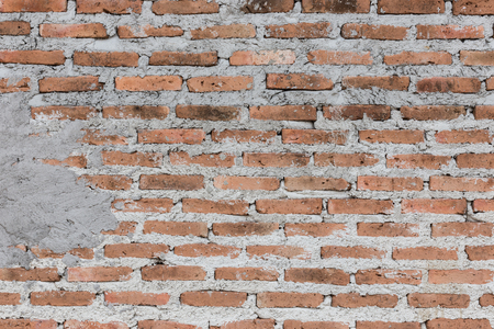 vignetted: red brick wall texture grunge background with vignetted corners,interior design Stock Photo