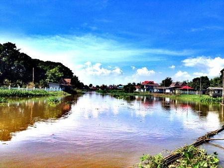 phraya: R�o Chao Phraya  Foto de archivo