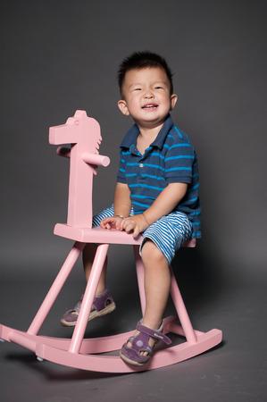 trojans: Boy riding a horse