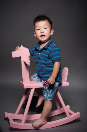 trojans: Children riding a horse
