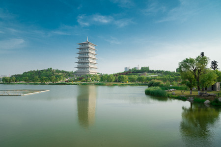 travel features: The tower of Chang An, World Horticultural Exposition, Xian