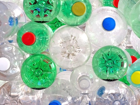 Pile of Plastic Beverage Bottles photo
