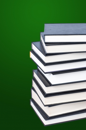 Stack of hardcover books photo