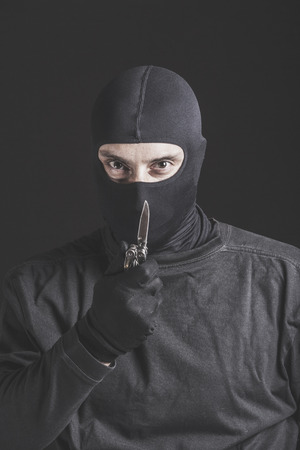 criminal: Dangerous criminal. Stock Photo